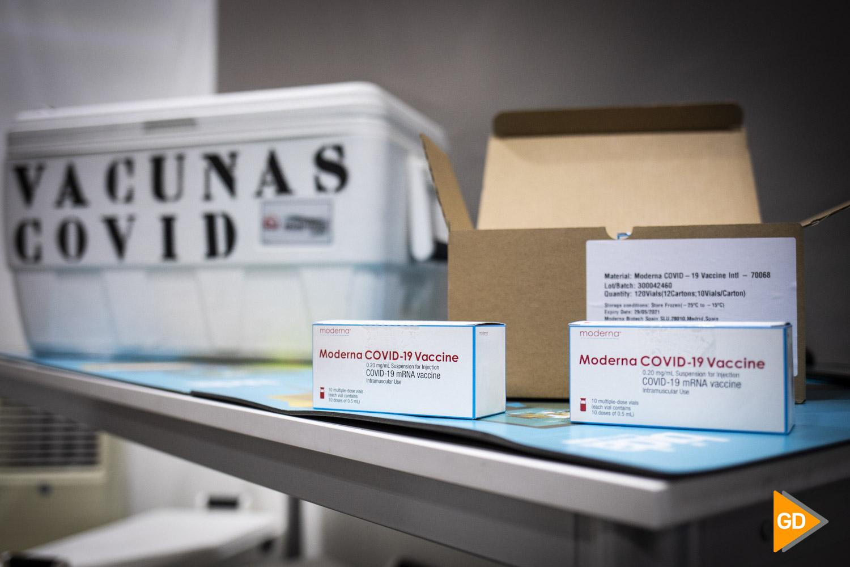 Vacunas de Moderna contra el Covid 19 en las instalaciones de Bidafarma en Granada