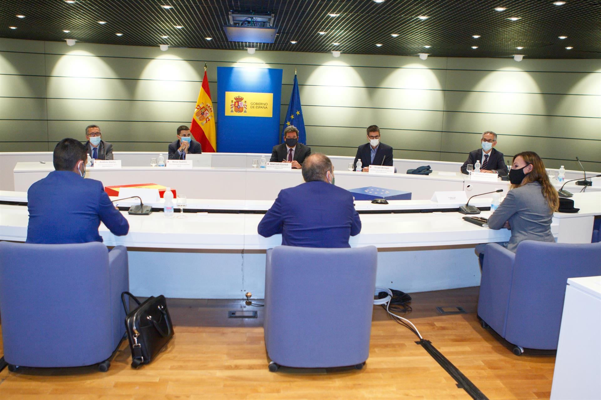 Reunión entre el ministro de Inclusión, Seguridad Social y Migraciones, José Luis Escrivá, y las organizaciones de autónomos