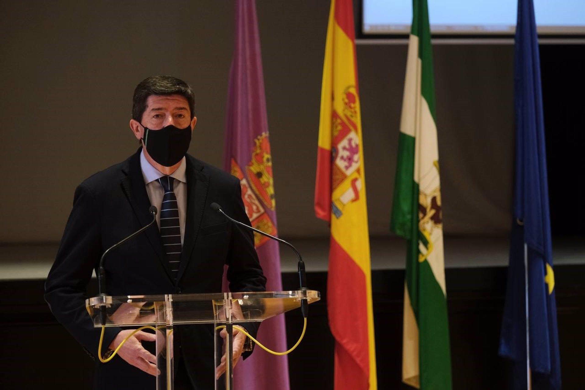 """Marín apela al """"espíritu reivindicativo"""" del 28F y cree que se necesita una Andalucía """"fuerte"""" para una España próspera"""