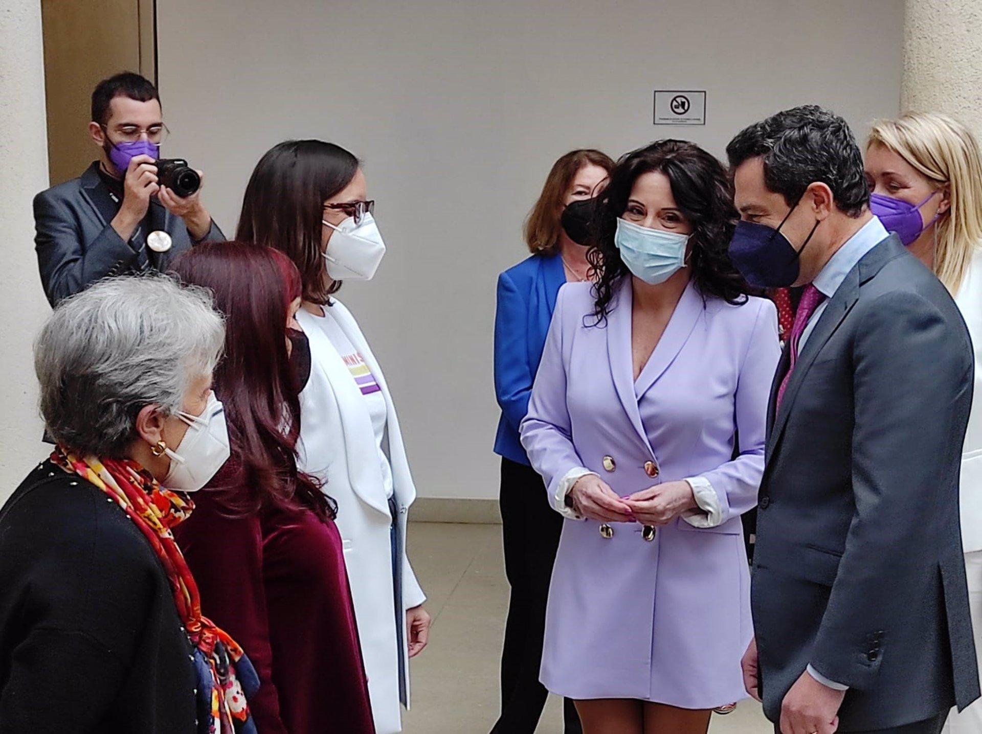 """8M.-AV.- Moreno: Andalucía tiene que continuar su camino """"sin titubeos"""" en la lucha por igualdad entre mujeres y hombres"""