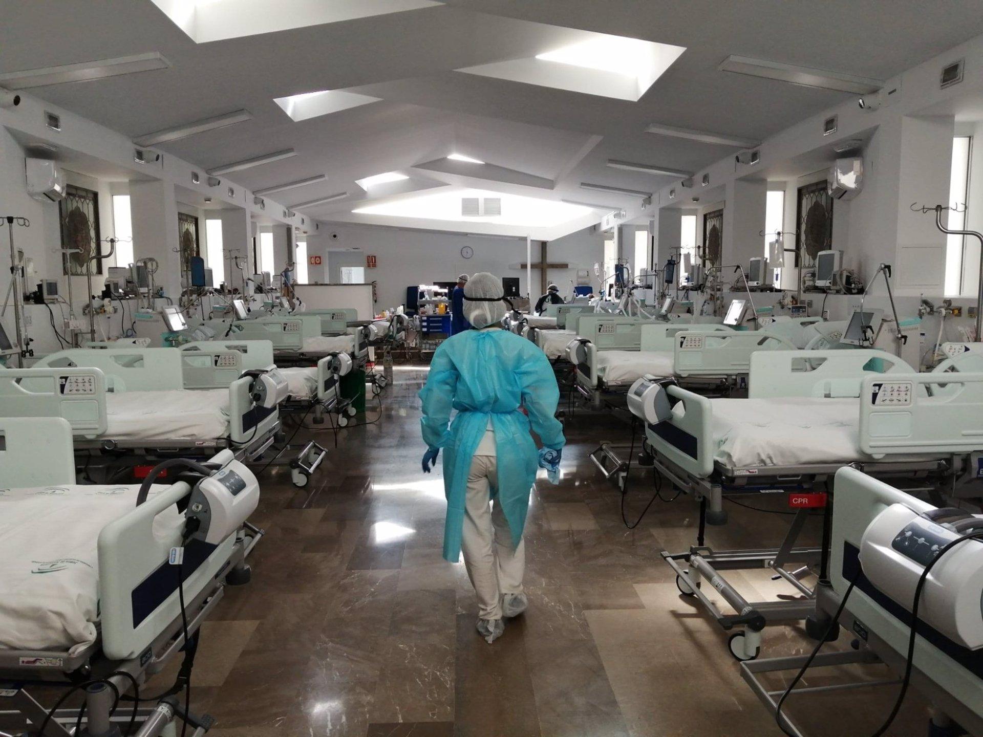 Granada.- Coronavirus.- Reabre como espacio UCI para pacientes con covid la capilla del Virgen de las Nieves