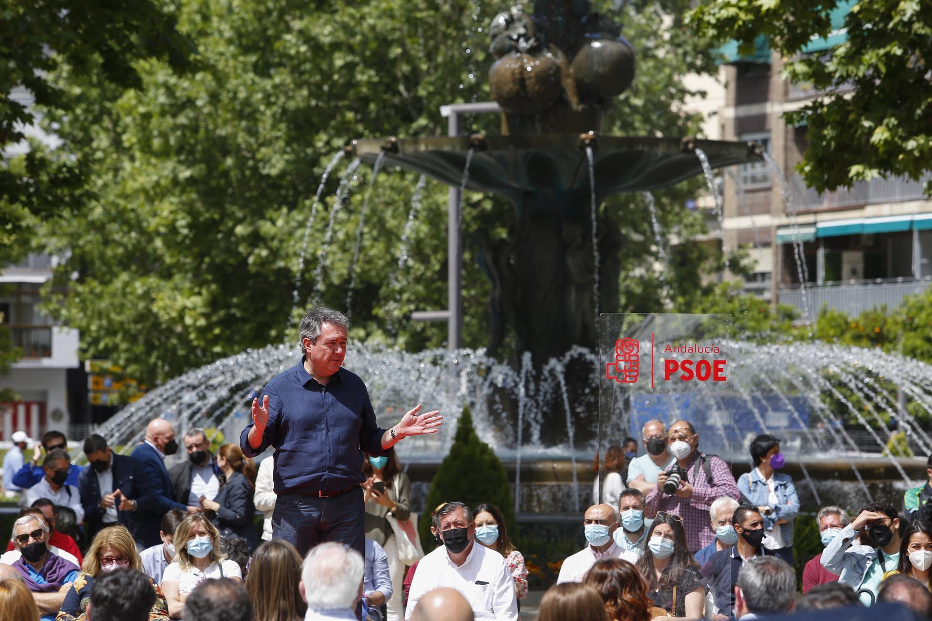 El alcalde Sevilla, Juan Espadas, en el acto de presentación de su candidatura para las primarias del PSOE-A FOTO Álex Cámara – Europa Press