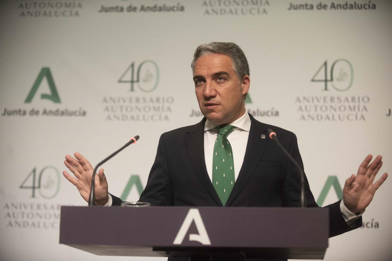El consejero de la Presidencia, Administración Pública e Interior y portavoz del Gobierno andaluz, Elías Bendodo