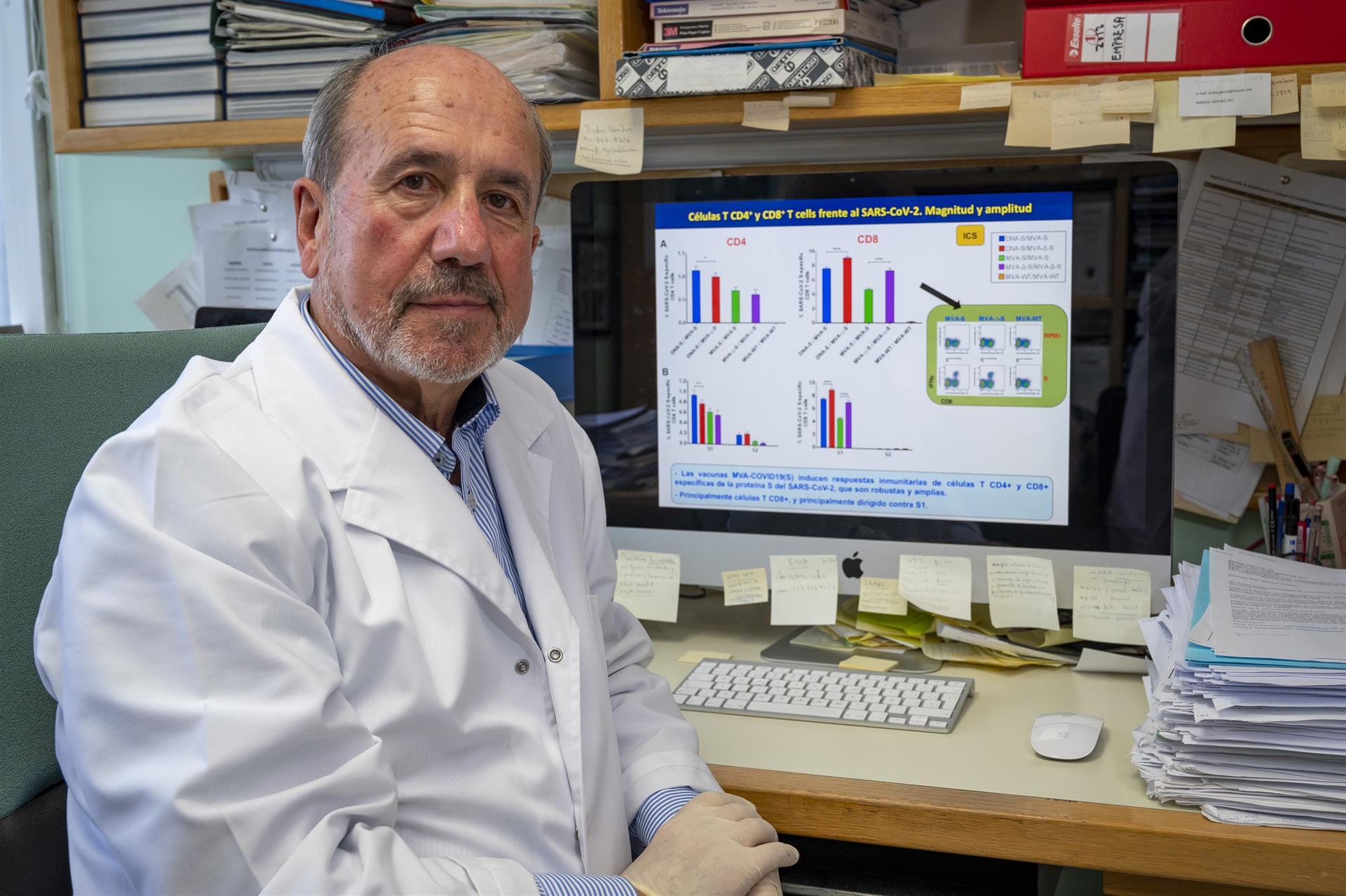El investigador español Mariano Esteban del Centro Nacional de Biotecnología Foto CSIC