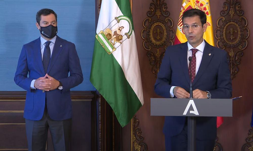 Juanma Moreno Bonilla y Paco Cuenca