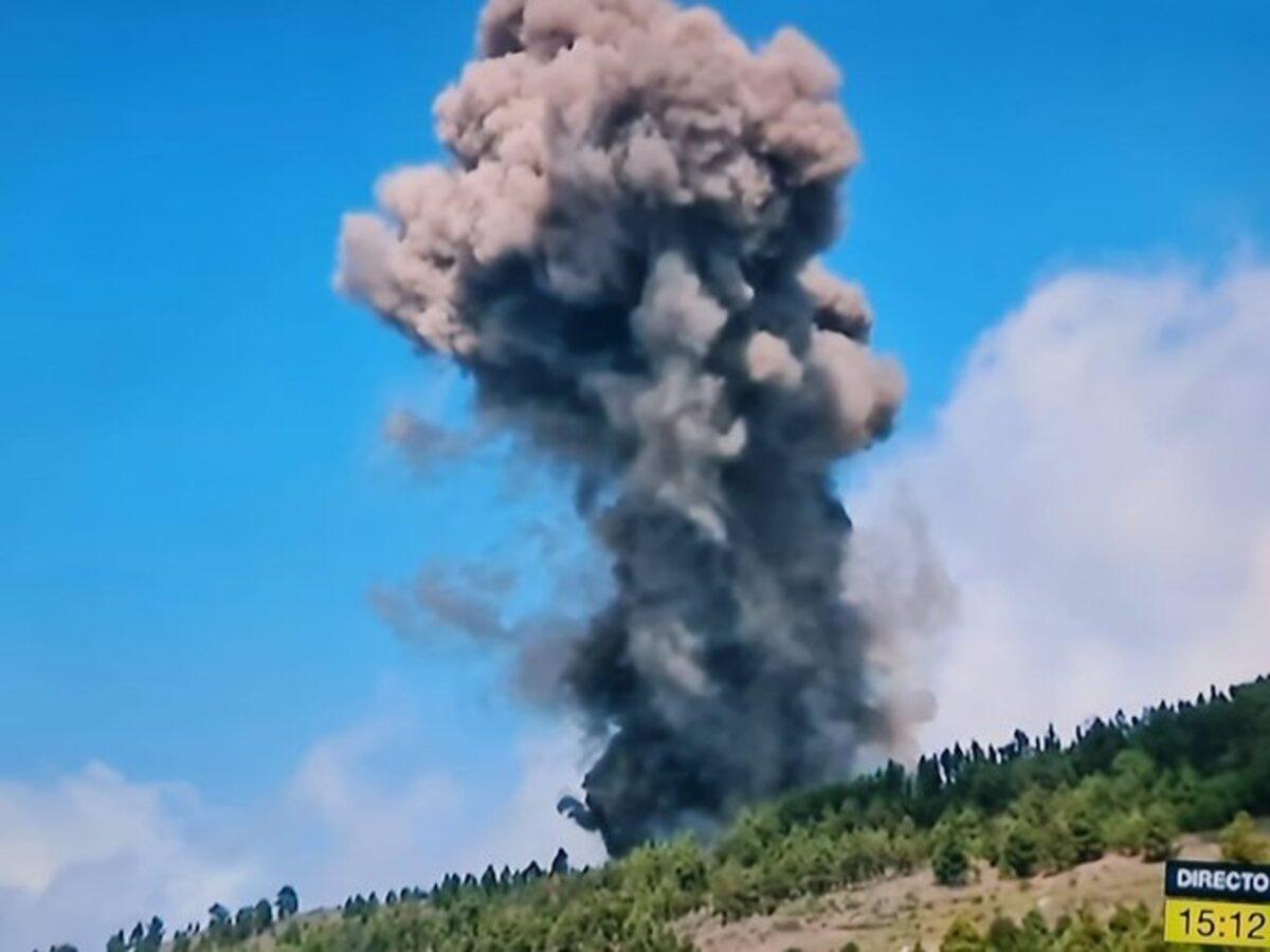AMPL.- Comienza una erupción volcánica en La Palma